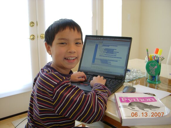Tiny Evan knows Python. You can too!